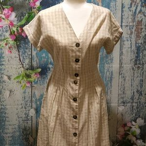 NWT MNG Casual Midi Linen Dress